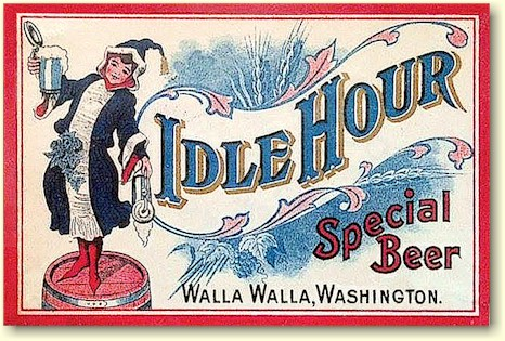 Idle Hour beer label