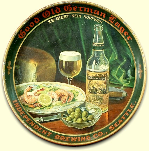 Independent Brg. Co. Old German Lager beer tray - image