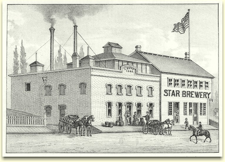 Bitz's Star Brewery drawing ca.1882