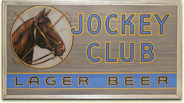 Jockey Club glass sign