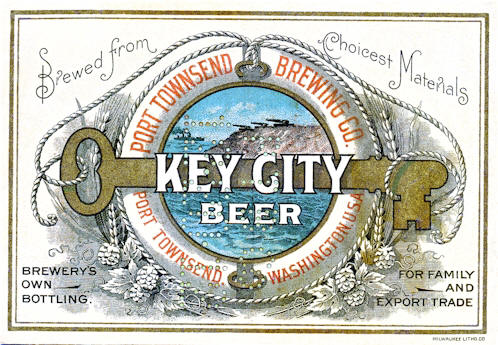 Key City Beer label, c.1912 - image