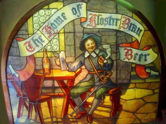 Kloster Brau stained glass window, c.1915 - image