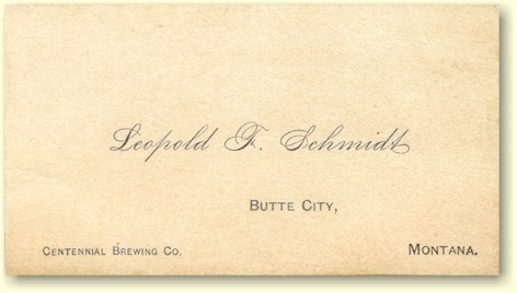 LF Schmidt business card ca.1880
