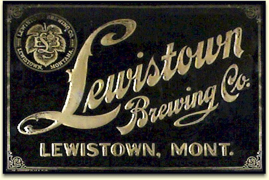 Lewistown Brewing Co. embossed tin sign