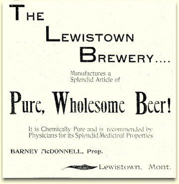 1900 ad for the Lewistown brewery