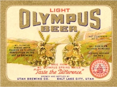 Olmpus Beer label