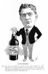 1906 cartoon of Louis Hemrich