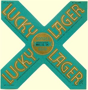 Lucky Lager beer label May 1934 - image