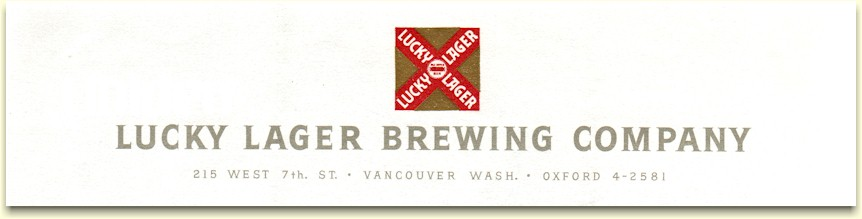 Lucky Lager Brg. Co. ltrhd. Vancouver, 1957