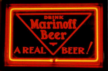 Marinoff Beer neon sign - image