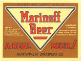 Marinoff Beer label, Tacoma - image