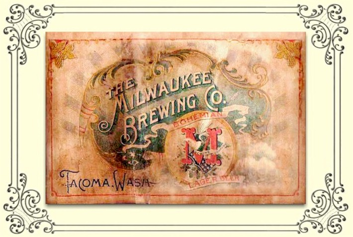 Milwaukee Brewing Co. of Tacoma, lager beer label