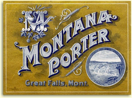 Montana Brg. Co. Porter label - Great Falls, MT