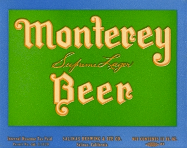Monterey Beer label, c.1935 - image