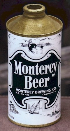 Monterey Beer, cone top can c.1938 - image