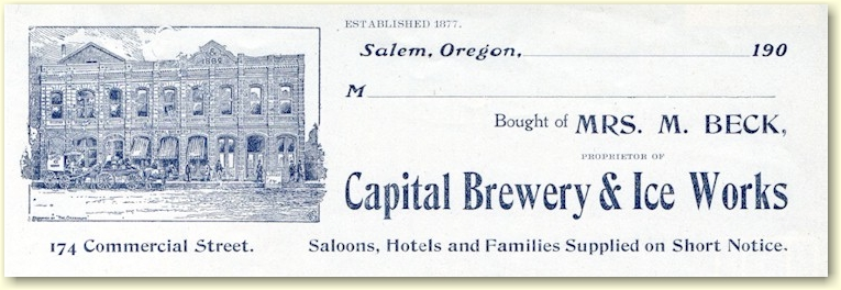 Capital Brewery & Ice Works letterhead - image