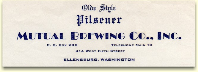 Mutual Brewing Co. letterhead ca.1942