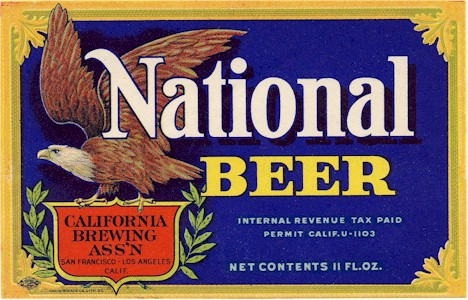 National Beer label from Acme