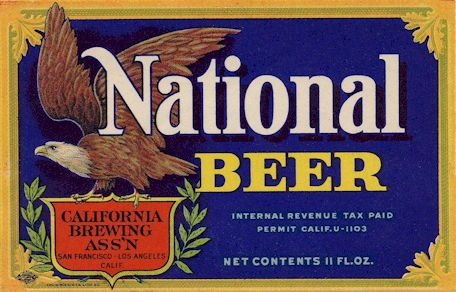 National Beer label from Acme - image