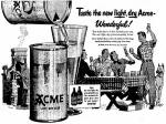 New Acme Beer can May 1950