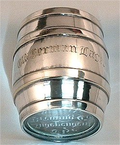 Old German Lager silver tumbler