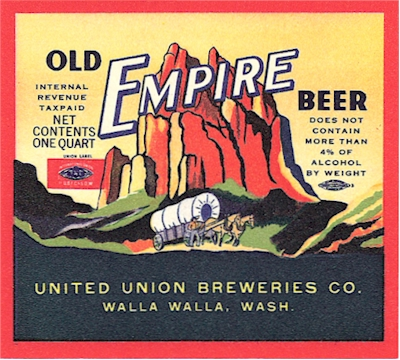 Old Empire Beer UUBC label c.1940 - image