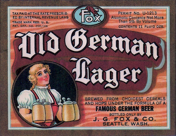Old German Lager label, c.1935 - image