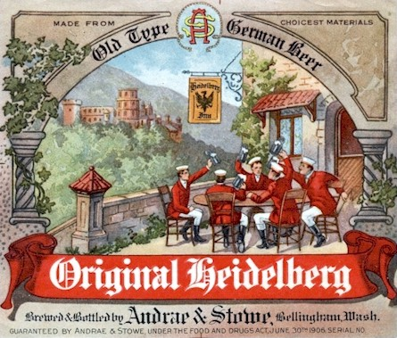 Original Heidelberg Beer label, c.1910 - image