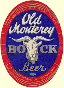 Old Monterey Bock  beer label, c.1938 - image
