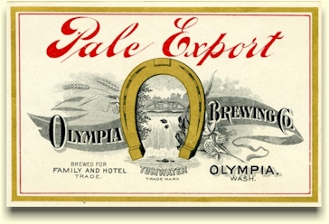 1902 Olympia Export beer label