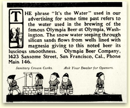 Olympia Beer ad SF c.1905