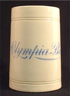 Olympia Beer stein c.1905
