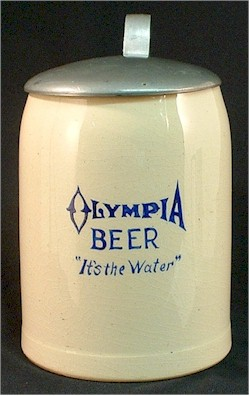 Olympia Beer stein ca.1914