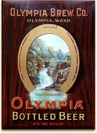 Olympia Bottled Beer TOC sign