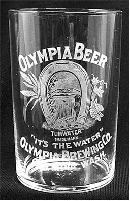 Olympia etched glass, c.1905