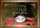 Olympia Gold advertising mirror