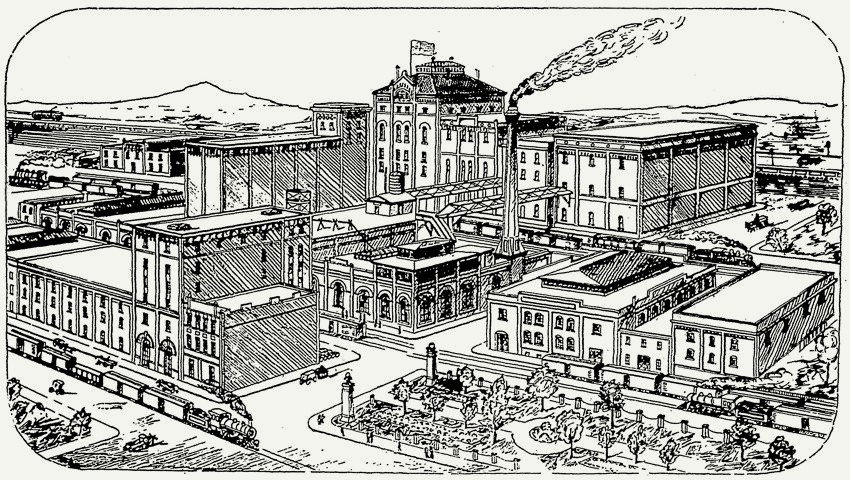 Pacific Brewing & Malting drawing 1912