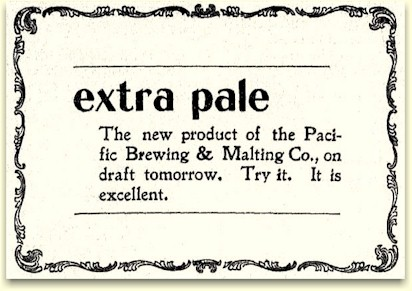 Extra Pale ad 15 Apr 1898