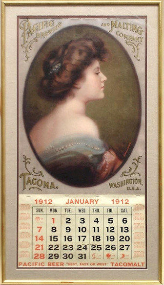 Pacific brewery 1912 calendar - image
