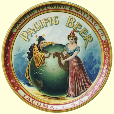Pacific Beer, East Meets West - beer tray - image