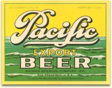 Pacific Export Beer label, c.1933 - image