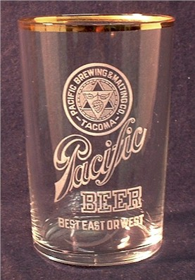Pacific Beer, etched glass - image