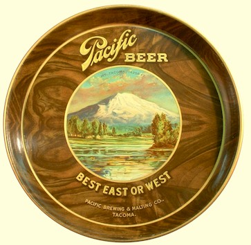 Pacific Beer tray, ca.1914