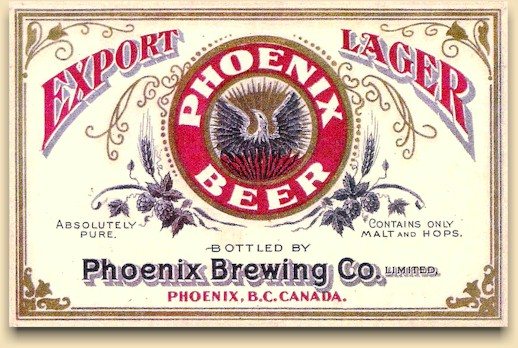 Phoenix Export Lager beer label