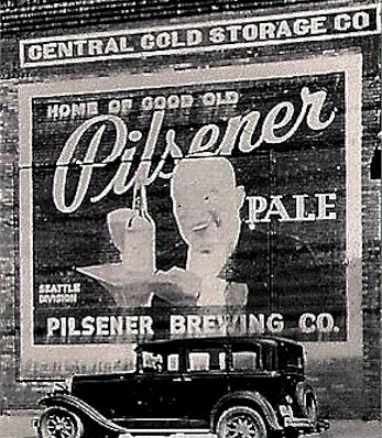 Pilsener Brewery frontage in Seattle
