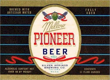 Pioneer Beer label from Tacoma, 1950s