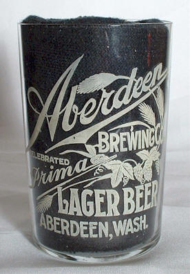 Prima Lager Beer etched glass - Aberdeen Brg. Co. - photo