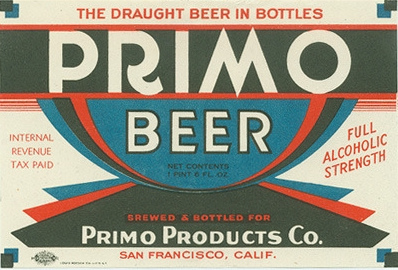Primo Beer label by Globe
