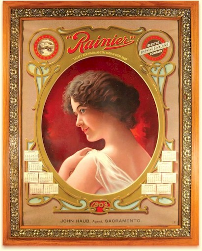 Rainier poster for 1903 from Sacramento - image
