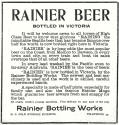 1903 ad for Rainier Bottling Works,  Victoria, B.C. - image